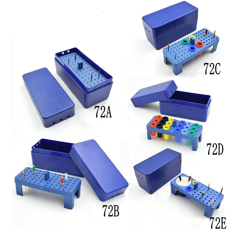 1Pc Dental 72 Holes Autoclavable Endo Box For Bur,reamer And Gutta Percha Points Endodontic Box Endo Holder