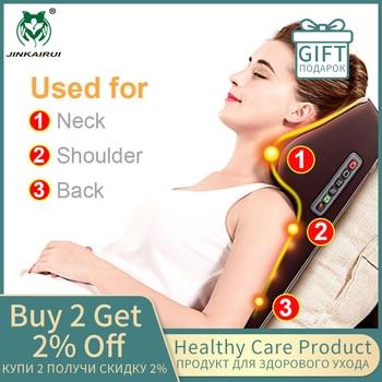 Multi-funktionale Kneten Zervikale Vibration Massager Neck Schulter Taille Volle-körper Auto Hause Duel-verwenden Geschenk Große massager Kissen