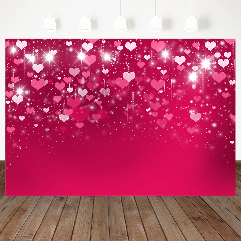 Pink Love Heart Valentine S Day Photography Backdrops Shiny Red Wedding Backdrop Bridal Shower Banner Background Photography Background Aliexpress