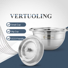 Vagens de filtro de café recarregáveis de aço inoxidável de vertuoline & vertuo