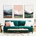 Sonnenaufgang Natur Landschaft Leinwand Malerei Mountain See Wasser Abstrakte Wand Kunst Poster Nordic Drucken Kreative Bild Home Decor