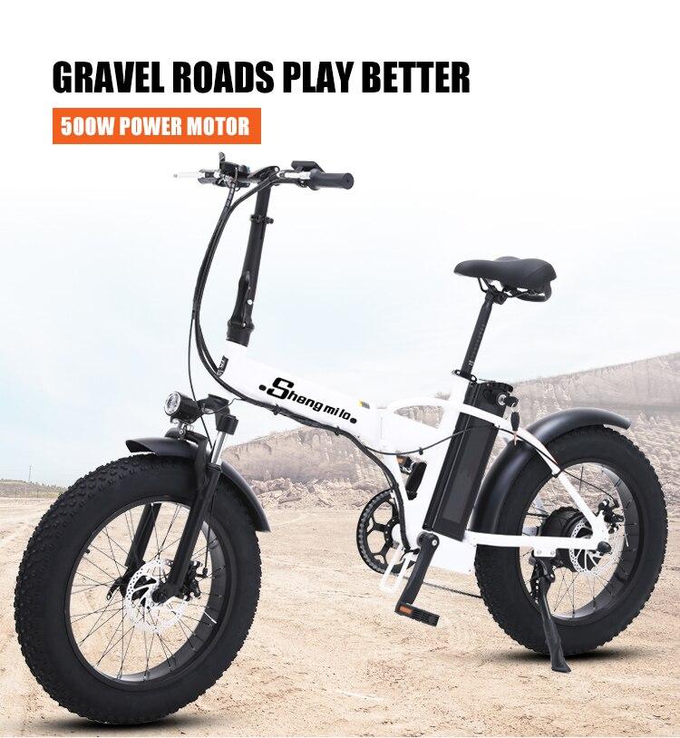 Ebike elektrische bike 500W 4,0 fett reifen elektrische fahrrad beach cruiser bike Booster fahrrad klapp 48v 15AH lithium--- teig