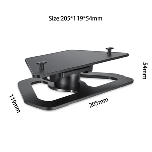 Image 2 - Speaker Stand Holder for Amazon Echo Show 2nd Aluminum Bracket for Echo Show 2nd Smart Speakers 360 Rotation w/ Precise Bearing
