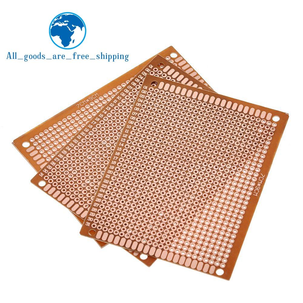Breadboard Copper-Plate Prototype Pcb Bakelite Experimental Yellow Single-Side 10pcs