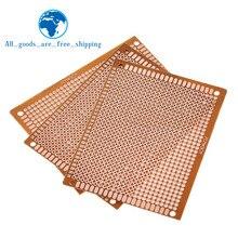10 pièces 7x9 7*9cm simple face Prototype PCB platine de prototypage panneau universel expérimental bakélite plaque de cuivre circuit imprimé jaune