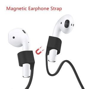 Image 1 - Magnetische Oortelefoon Band Voor Airpods Anti Verloren Riem Magnetische String Rope Voor Bluetooth Tws Oortelefoon Siliconen Kabel Cord