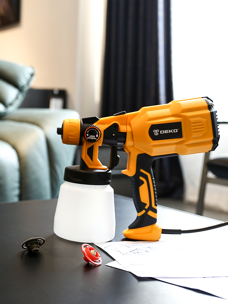 DEKO Spray-Gun Paint-Sprayer Electric Clean 3-Nozzle-Easy Home High-Power 220V 550W And