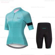 HuanGe נשים מחזור בגדי 2020 גבוהה באיכות נשים של קצר שרוול רכיבה על אופניים Cyc אופני בגדי אופני אחיד ביגוד רכיבה