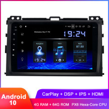 "8 ""จอแสดงผลIPS Android 10 GPSสำหรับPrado 120 2004 2005 2006 2007 2008 2009 ในDash carPlay Radio WiFi DSP Audio Video(Hong Kong,China)"