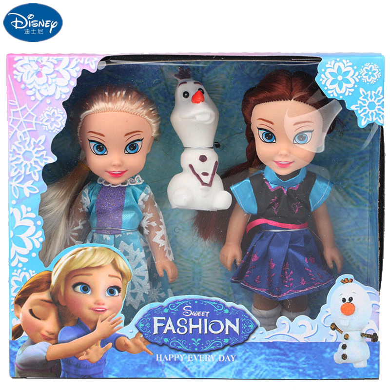 Disney Frozen Toys Princess Elsa Toy Anna Dolls & Accessories Olfa Good Quality Gifts ! Plastic Baby Dolls For Girls