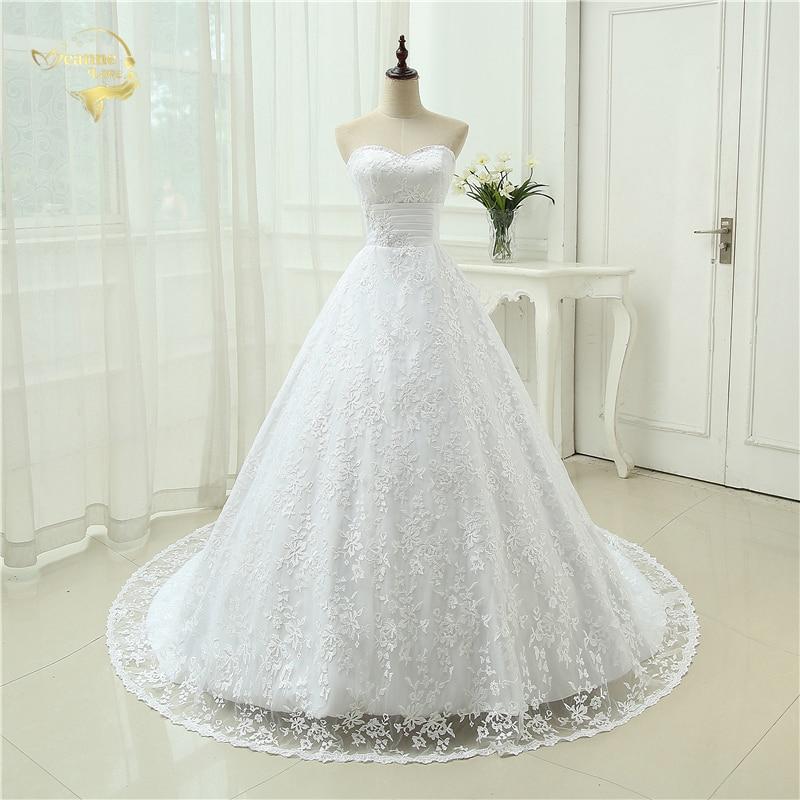 Vestido De Noiva Free Shipping New Design Backless Casamento A Line With Train Robe De Mariage Lace Wedding Dresses 2019 OW 3042