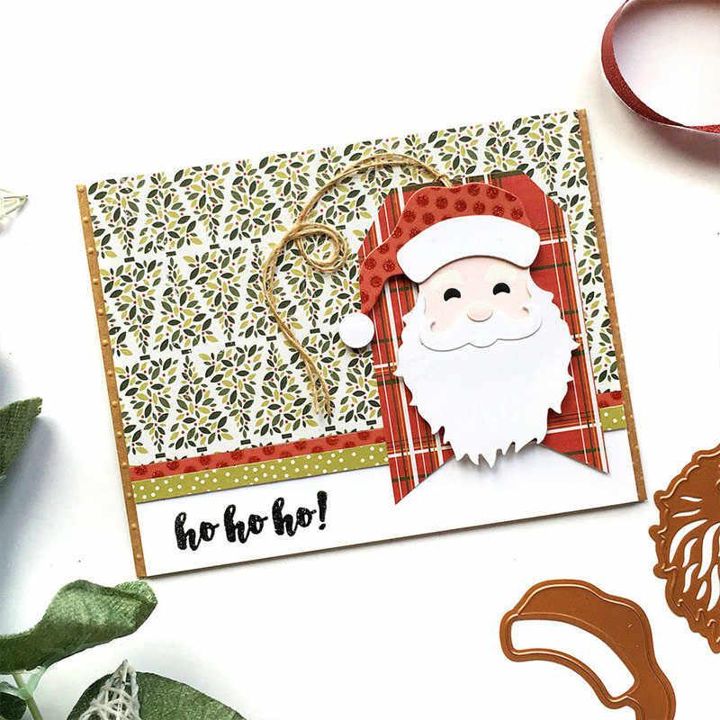عيد الميلاد سانتا كلوز المعادن قطع يموت قالب الإستنسل DIY بها بنفسك سكرابوكينغ صور بطاقة ورق زينة يموت الحرفية قطع 2019