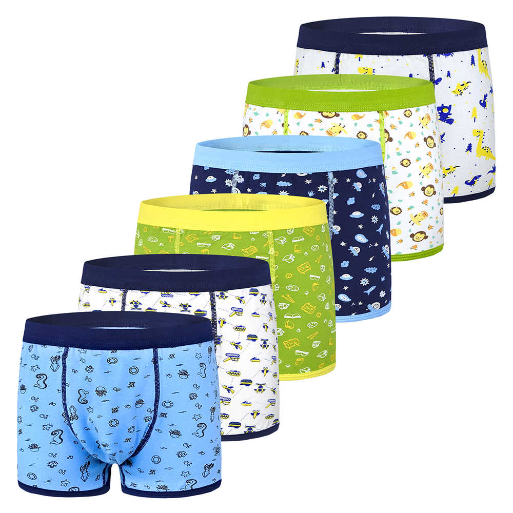 6Pcs/lot teenager kids boys underwear baby boxer briefs soft organic cotton children panties for boy for 2-10years underpants