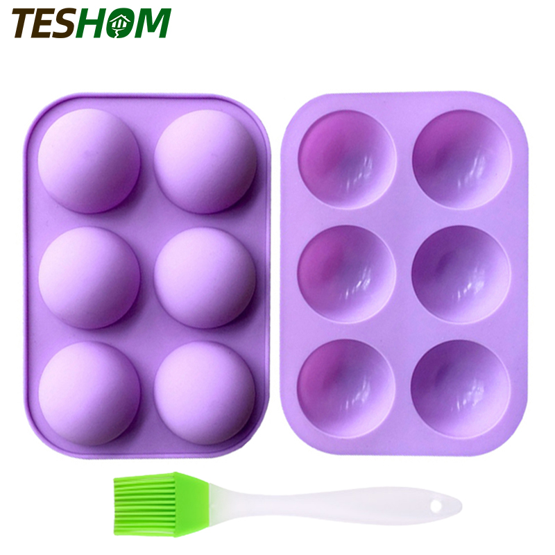 Medium Semi Sphere Silicone Mold, Baking Mold for Making Hot Chocolate Bomb, Cake, Jelly, Dome Mousse