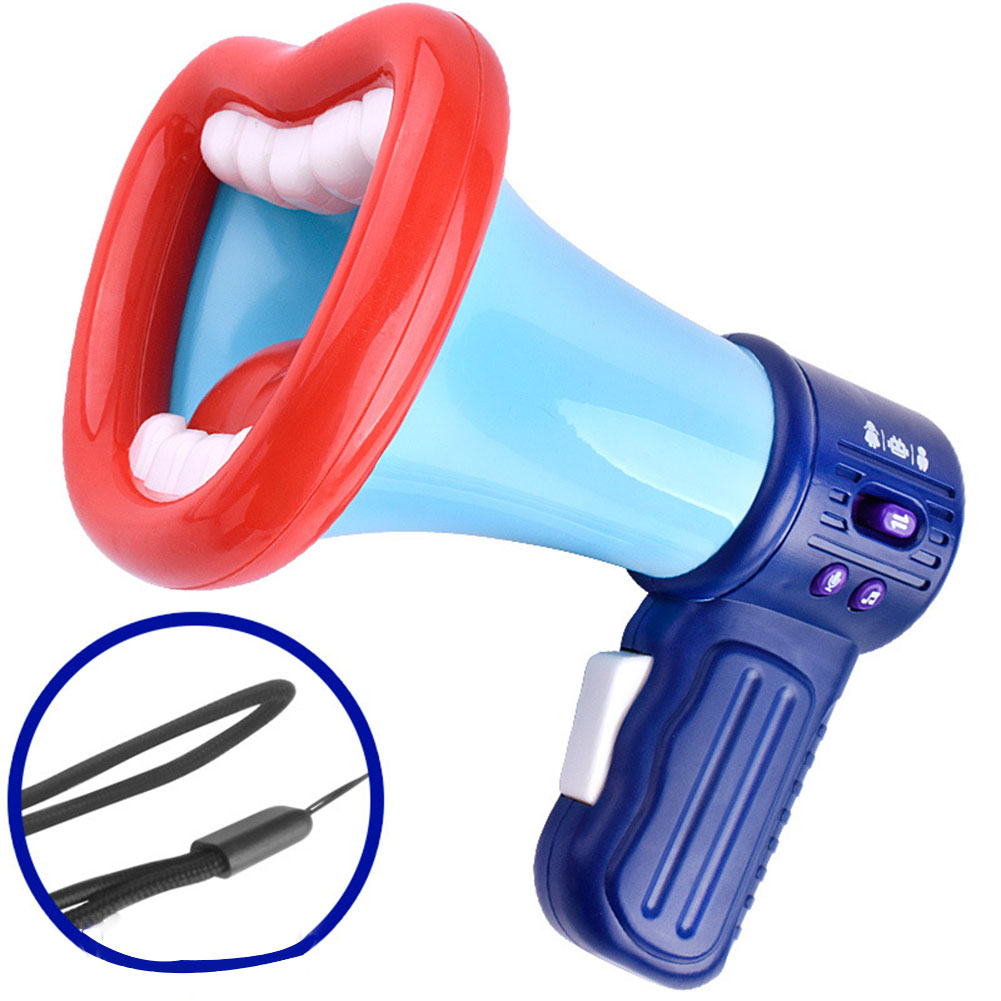 2020 New Big Mouth Funny Megaphone Recording Toy Kids Voice Changer Children Speaker Handheld Mic Vocal Toys