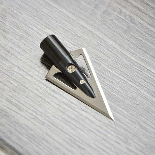 6/12pcs 2 Sharp Fixed Blade Wood Arrow Shaft Broadhead Hunting Arrowheads Screw In for Bow Arrow Shooting Camping 5
