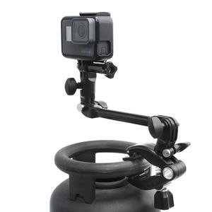 Image 3 - Adjustable Desktop Guitar Mic Music Mount  Rotating Stage Clamp Bracket Holder for GoPro/XIaoyi/SJCAM/AEE Sports Camera Stand