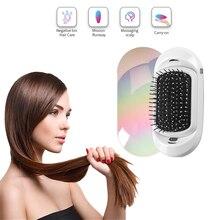 Combs Hair-Brush Scalp-Massage Straight Antic-Static Ionic Electric Mini Vibration Negative-Ions