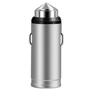 Image 5 - QC 3.0 USB Mini Car Charger Fast Charging For iPhone X Samsung S8 Huawei P30 All Aluminum Alloy Mobile Phone Car Charger Adapter