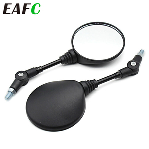 1 Pair Foldable Round 10MM Scooter Rear Mirror Dirt Pit Bike Rearview Motorcycle Mirrors for KTM Mirror Motocross Accessories