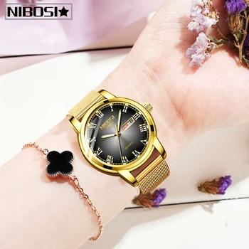 NIBOSI Gold Women Watch