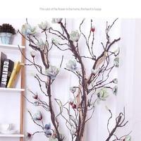 DIY Craft Home Garden Wedding Party Decor Artificial Magnolia Vine Silk Magnolia Garland Artificial Flowers