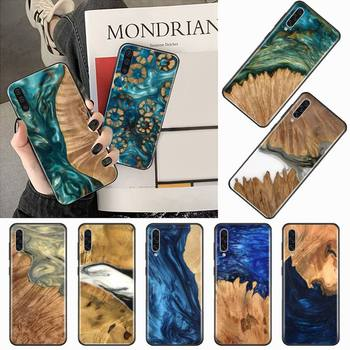 Luxury wood plastic art gold Phone Case For Samsung galaxy S 7 8 9 10 20 edge A 6 10 20 30 50 51 70 note 10 plus image