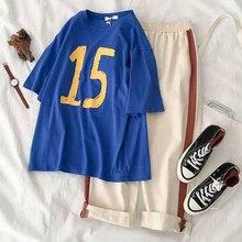 T-Shirt Korean-Print Long-Pants Short-Sleeved Casual Summer New Female Students