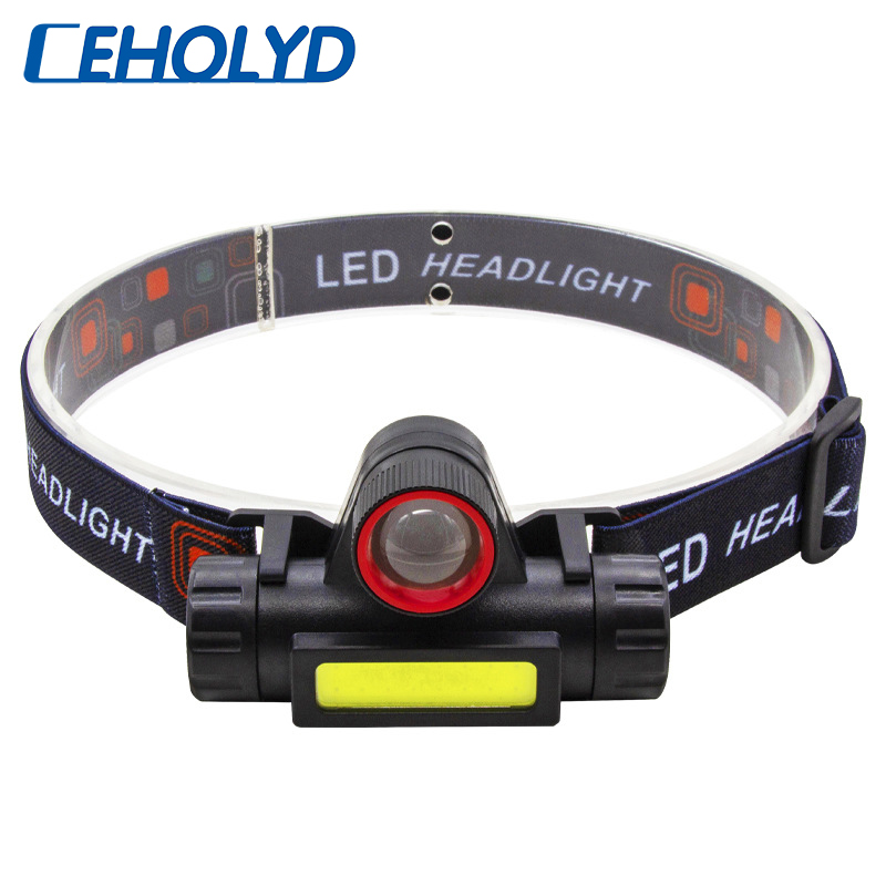 Sensor XP G Q5 Zoomable Led Headlamp Built in Usb Rechargeable 18650 Battery Head Flashlight Lamp Headlight Working Torch Light