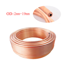 1m/3m OD 2mm-19mm Copper Coil / Air Conditioning Refrigeration Tubing /T2 Soft Coil Copper Tubes