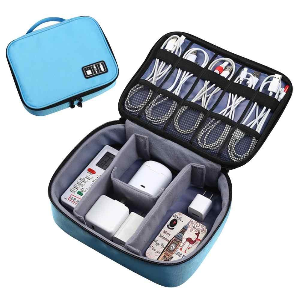 Podróży torba na kabel przenośny cyfrowy USB gadżet do pakowania organizator ładowarka przewody kosmetycznych zamek pokrowiec zestaw akcesoria do