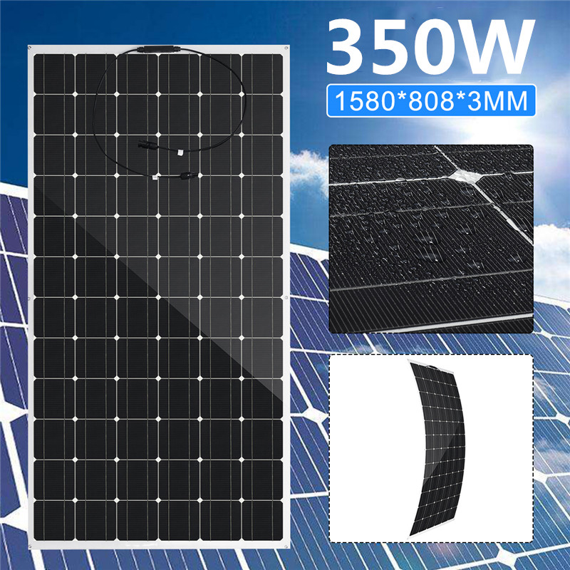 Efficient 350W Solar Panel 36V Flexible Solar System Monocrystalline Silicon Ratefor Car Yacht Light Battery Outdoor Charger