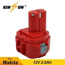 KINSUN Replacement Power Tool Battery 12V 2.0Ah for Makita Cordless Drill Screwdriver PA12 1220 1222 192598-2 192681-5 6271DWE pa12 p12a
