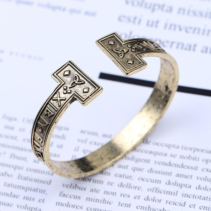 Liste&Luke 2019 NEW 1 Pc Mens Handmade Nordic Rune Bangle Viking Cuff Bracelets Bangles