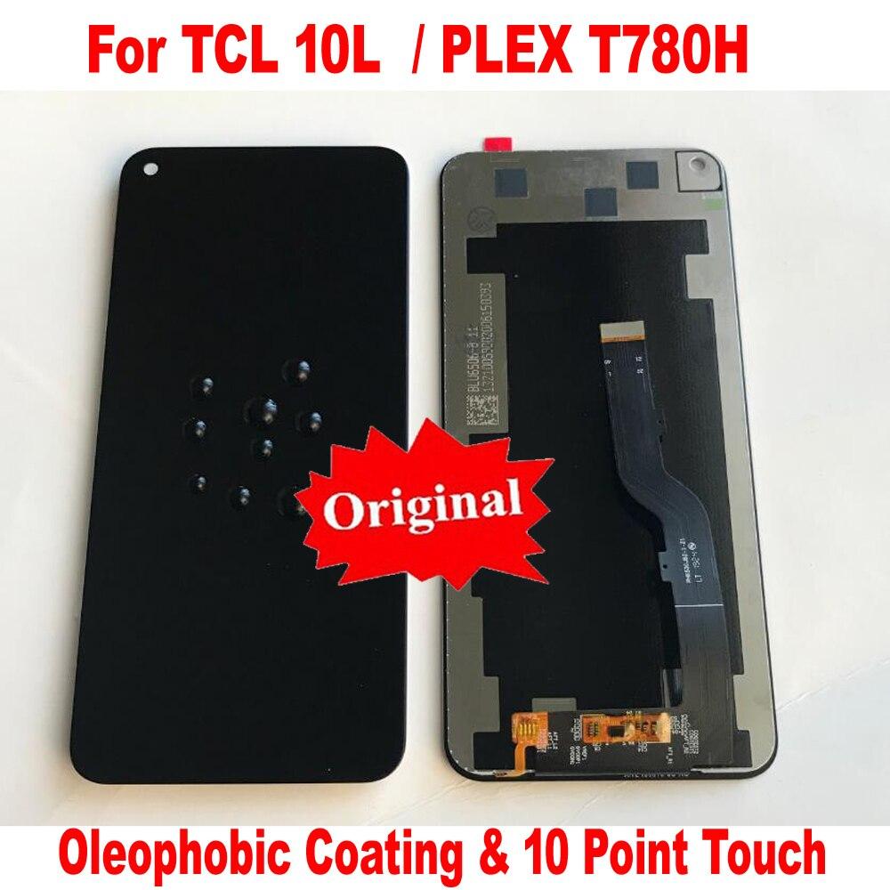 Оригинальный Новый Стекло Сенсор ЖК-дисплей Дисплей кодирующий преобразователь сенсорного экрана в сборе для TCL 10L 10 Lite T770H T770B PLEX T780H мобильн...