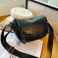 Pure Color Fashion Small Tote bag 2021 New High-quality PU Leather Women's Designer Handbag Shoulder Messenger Bag Chain Purses