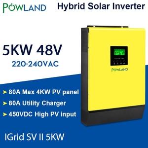 Image 1 - היברידי שמש מהפך 5000W 48V 220V גבוהה PV קלט 450Vdc MPPT שמש מטען 80A סוללה מטען רשת קשור מהפך