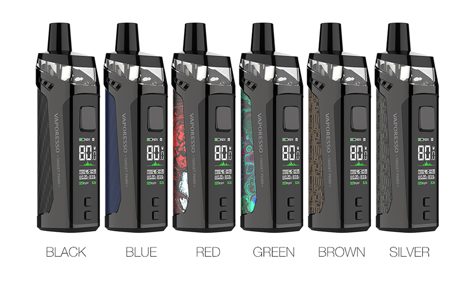 Original Vaporesso TARGET PM80 Pod System vape Kit 4ml Cartridge Capacity with 2000mAh Battery 80w electronic cigarettes