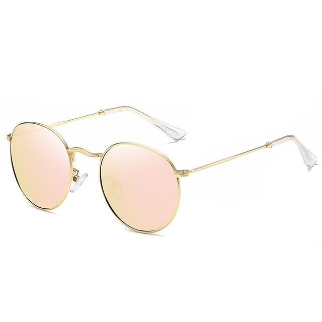BARCUR Round Sunglasses Men/Women Colorful Reflective Coating Polarized Sun Glasses with Box free