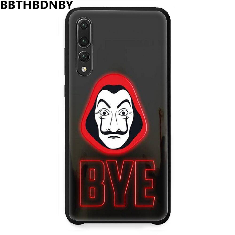 Rumah Kertas Mobile Case untuk Serial TV Uang untuk Huawei P9 P10 P20 P30 Pro Lite Smart Mate 10 lite 20 Y5 Y6 Y7 2018 2019