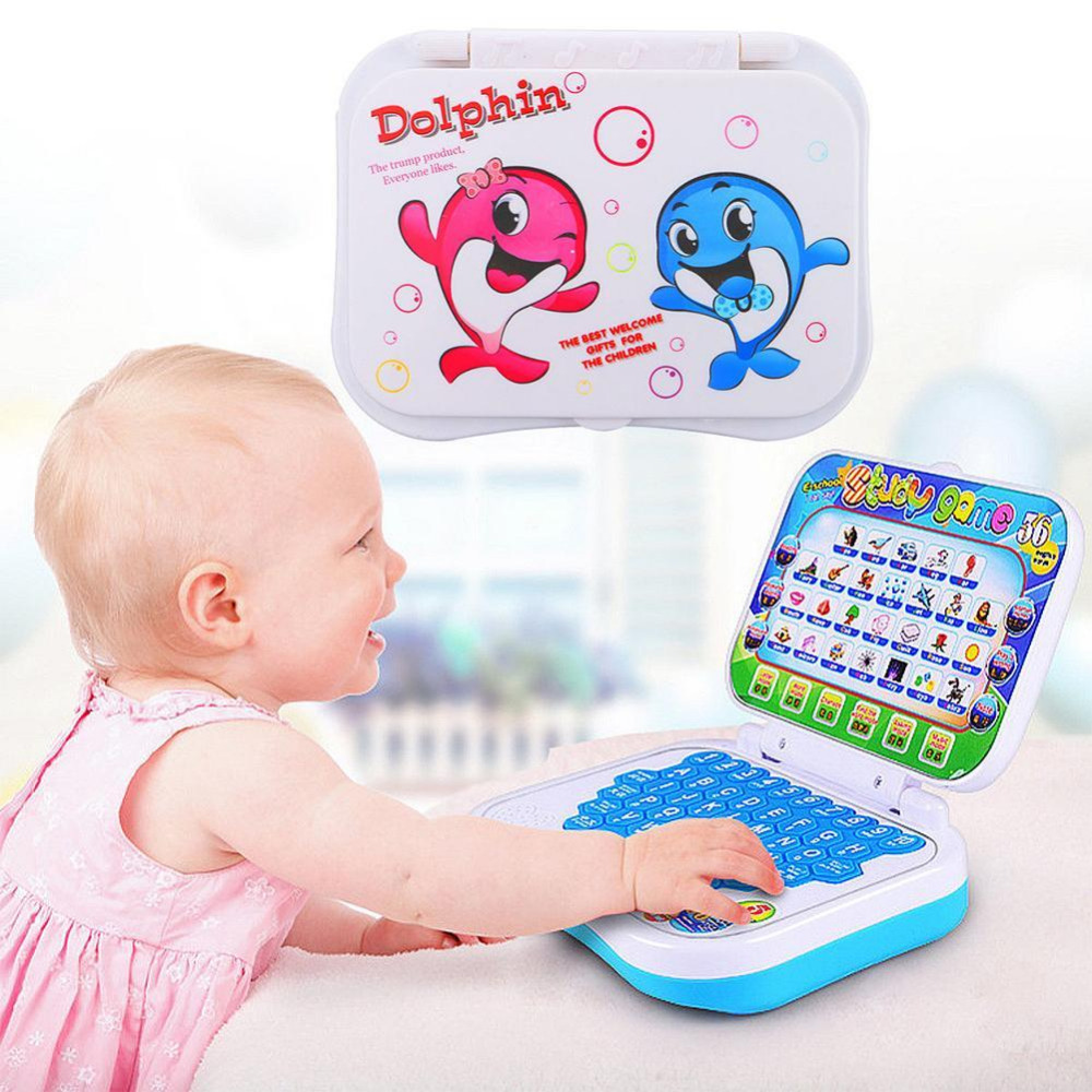 English Learning Machine Toy Baby Kids Pre School Educational Toy Computer Baby Kids Pre School Educational Study Laptop Game image