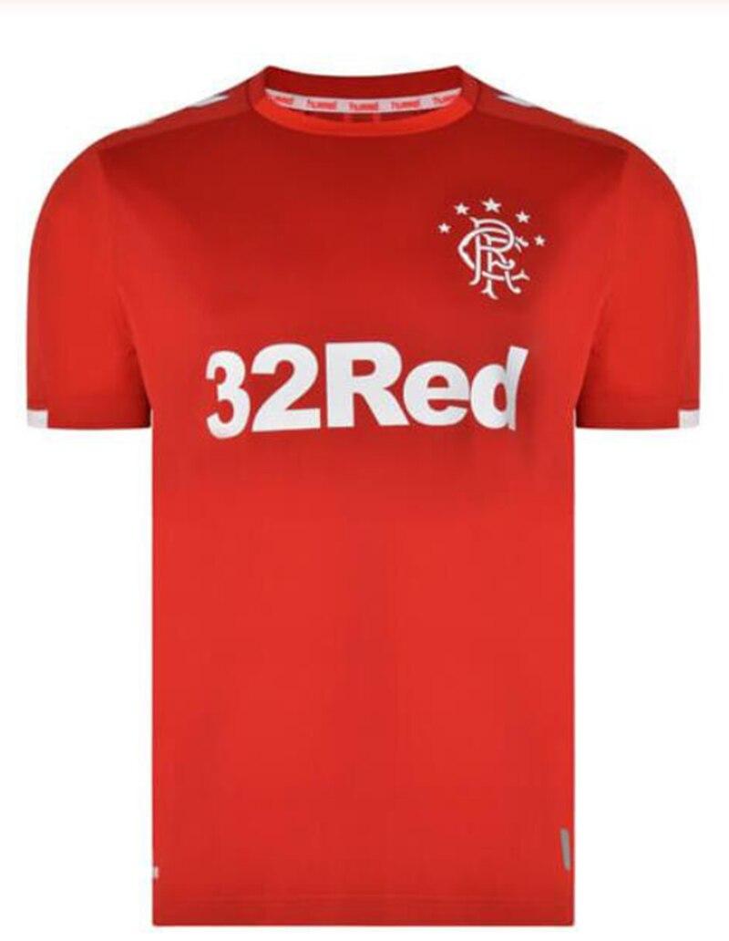 2019 de los hombres para los Rangers Glasgow Camiseta de futbol hogar 19 20 de calidad superieure Maillot de pie fútbol Camisa cor