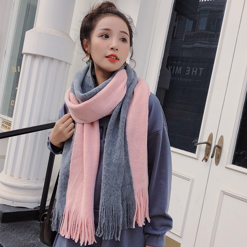 Women Solid Color Cashmere Scarves With Tassel 2019 Autumn New Soft Warm Lady Girls Wraps Long Scarf Female Shawl Men Scarf
