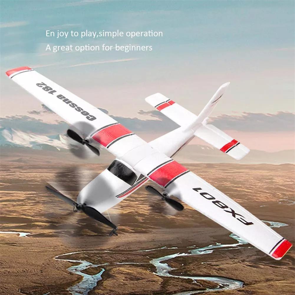 FX801 RC Plane EPP Foam Glider Airplane Gyro 2.4G 2CH RTF Remote Control Wingspan Aircraft Funny Boys Airplanes Interesting Toys