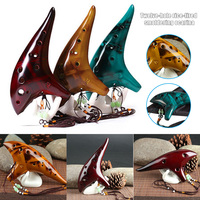 12 Holes Smoked Ocarina Submarine Style Musical Instrument Music Lover Beginner Instrument THJ99