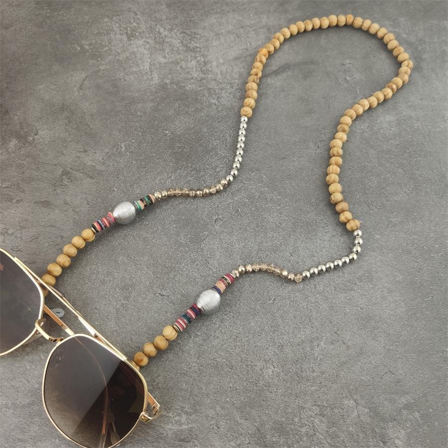 Colorful Wood Beads Chain Sunglasses Chains Women