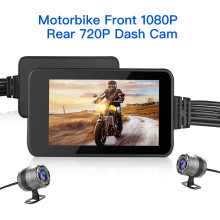 Waterproof Blueskysea Motorcycle WiFi Camera Touch Screen HD Moto GPS 140° MT23 Dual DVR Dash Cam1080P Loop Recording