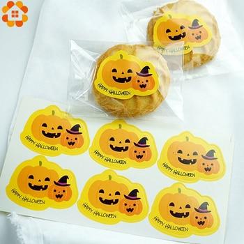 1 Set di Halloween Serie Adesivi Carino Sacchetto del Regalo Sticker Per Bambini Regalo di Zucca Pipistrello Fantasma Sticker Happy Rifornimenti Del Partito di Halloween