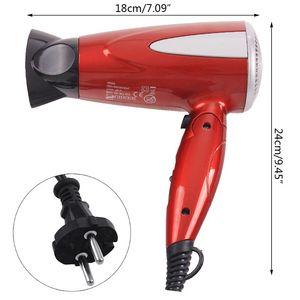 Image 4 - מקצועי מתקפל שיער לפוצץ מייבש 1800W חום מפוח מייבש חם קר רוח סלון האיחוד האירופי Plug