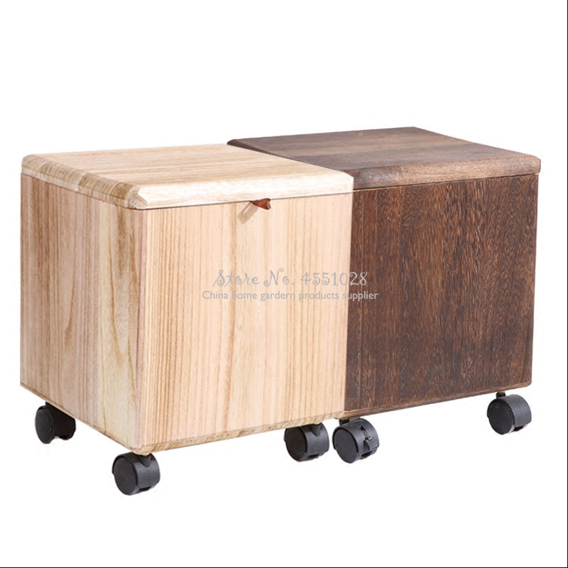 Wheel Pouf Cube Storage Basket Box